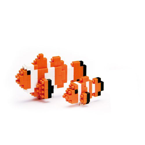 Nanoblocks Clown Fish 110pc Nanoblock Construction- BibiBuzz
