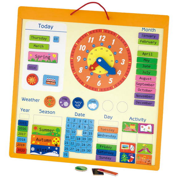 VIGA Magnetic Calendar VIGA Developmental Toys- BibiBuzz