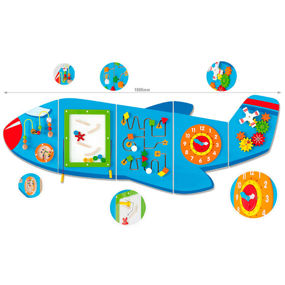 Wall Toy - Aeroplane VIGA Developmental Toys- BibiBuzz