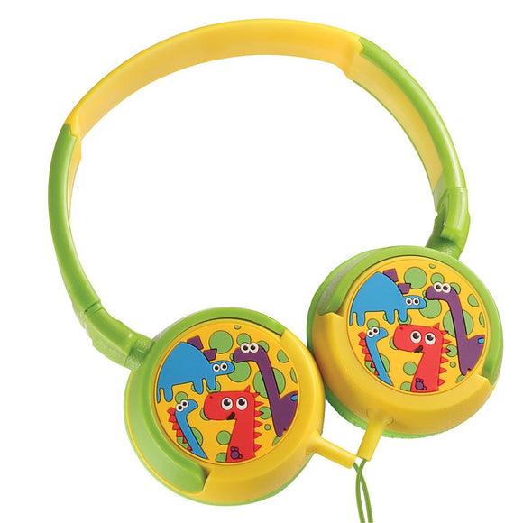 Amplify Kiddies Headphones Dinosaurs - Volume Limiting Headphones Amplify Accessories- BibiBuzz