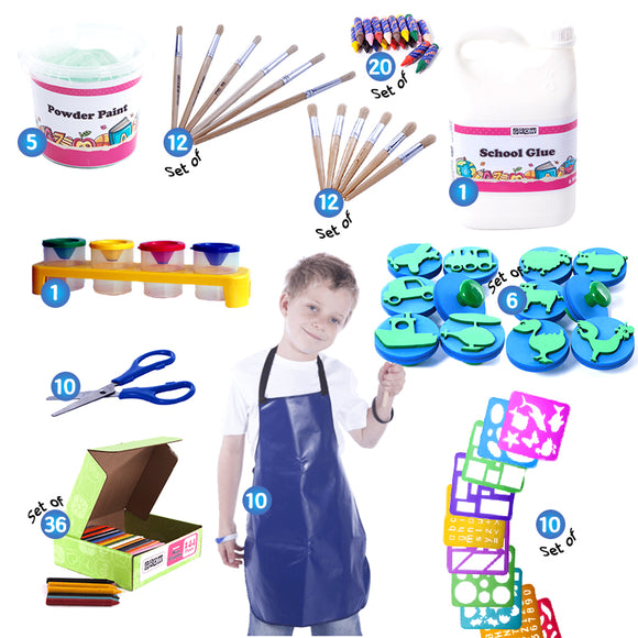 Art & Creative Kit - Foundation Phase GROW Creative Crafts- BibiBuzz