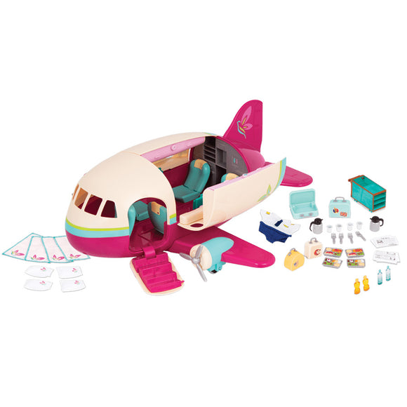 Li'l Woodzeez Airplane Playset Li'l Woodzeez Pretend Play- BibiBuzz