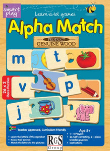Alpha Match RGS Smartplay Educational Games and Puzzles- BibiBuzz