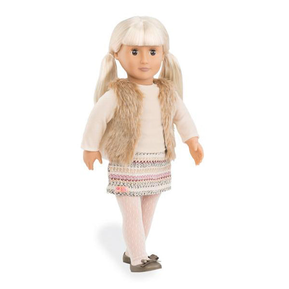 Classic Doll Aria 18 Inch Blonde Our Generation Dolls- BibiBuzz