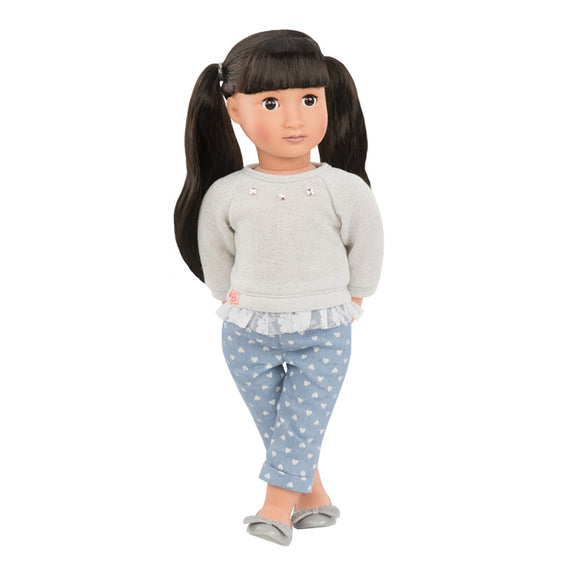 Classic Doll May-Lee 18 Inch Brunette Our Generation Dolls- BibiBuzz