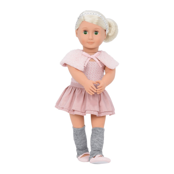 Classic Doll Alexa 18 Inch Platinum Blonde Our Generation Dolls- BibiBuzz