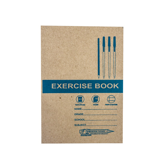 A5 Exercise Book F/M 48pg Freedom Stationery- BibiBuzz
