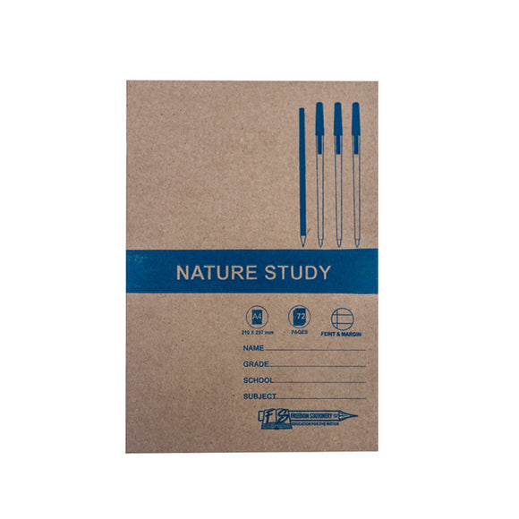 A4 Nature Study Book 72pg Freedom Stationery- BibiBuzz