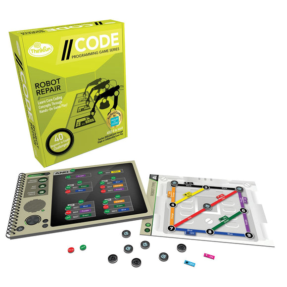 Code - Robot Repair Level 3 Thinkfun Coding Games- BibiBuzz