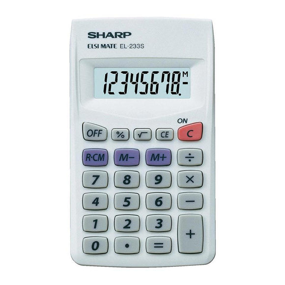 Sharp EL233 LB Pocket Calculator Sharp Stationery- BibiBuzz