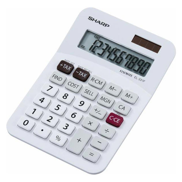 Sharp EL331F Calculator (10 digit) Sharp Stationery- BibiBuzz