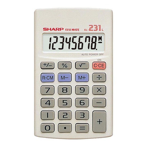Sharp EL231 LB Pocket Calculator Sharp Stationery- BibiBuzz