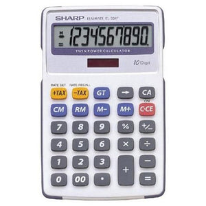 Sharp EL-334 Mini - Desk Calculator (12 digit) Sharp Stationery- BibiBuzz