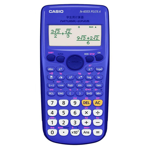 Casio FX-82 ZA Plus (replaces 82ES) Casio Stationery- BibiBuzz