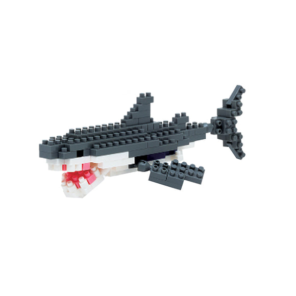 Nanoblocks Great White Shark 130pc Nanoblock Construction- BibiBuzz