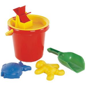Bucket, Water Wheel, Shapes & Spade Idem Smile Outside Play- BibiBuzz
