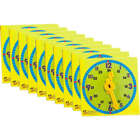 Clock Learner (Set Of 10) Idem Smile Mathematics- BibiBuzz