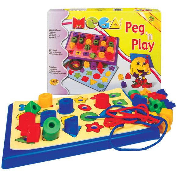 Mega Peg 'n Play Idem Smile Mathematics- BibiBuzz