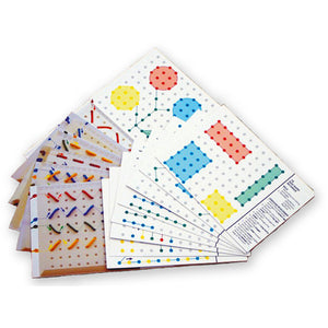 Pegboard Pattern Cards Idem Smile Mathematics- BibiBuzz