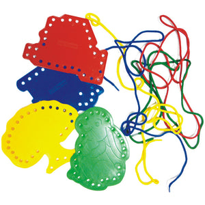 Threading Shapes & Laces Idem Smile Developmental Toys- BibiBuzz