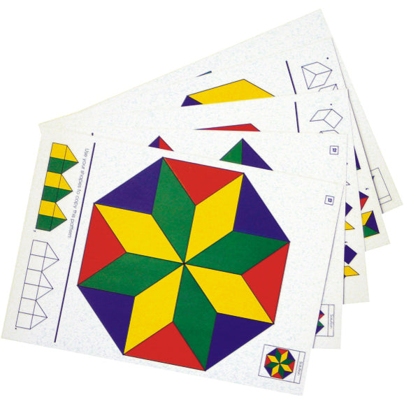 Logi Shapes Pattern Cards Idem Smile Mathematics- BibiBuzz