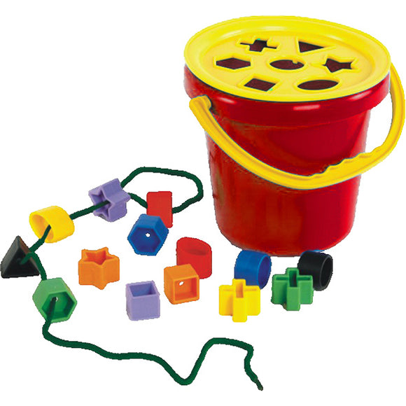 Sort & Play Lid And Shapes With Bucket Idem Smile Developmental Toys- BibiBuzz
