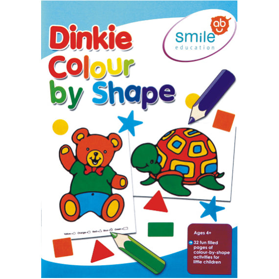 Book - Dinkie Colour By Shape Idem Smile Language- BibiBuzz