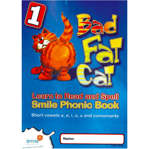 Book - Phonic Book 1 - Bad Fat Cat Idem Smile Language- BibiBuzz