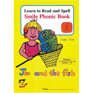 Book - Phonic Book 2 - Jim And The Fish Idem Smile Language- BibiBuzz