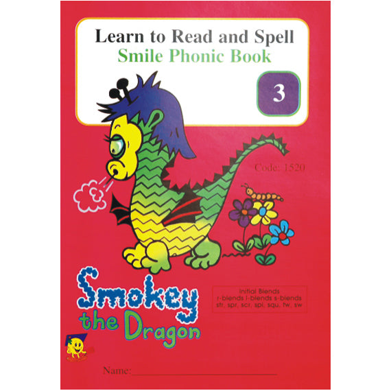 Book - Phonic Book 3 - Smokey the Dragon Idem Smile Language- BibiBuzz