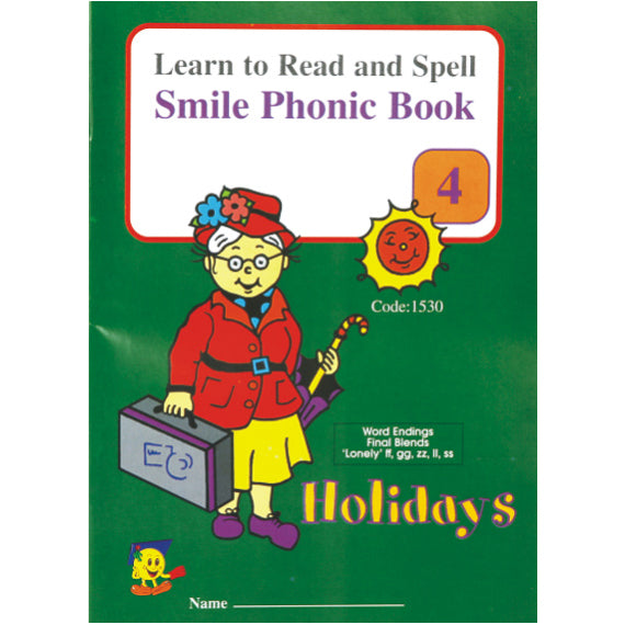 Book - Phonic Book 4 - Holidays Idem Smile Language- BibiBuzz