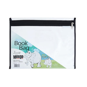 Clear Book Bag With Zip Meeco Stationery- BibiBuzz