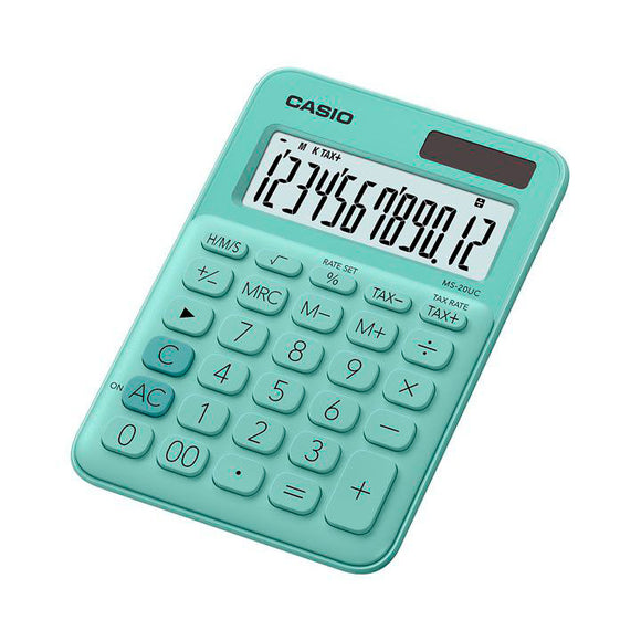 Casio MS-20UC Desktop Calculator 12 Digit Casio Stationery- BibiBuzz