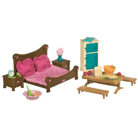 Li'l Woodzeez Master Bedroom & Dining Set Li'l Woodzeez Pretend Play- BibiBuzz