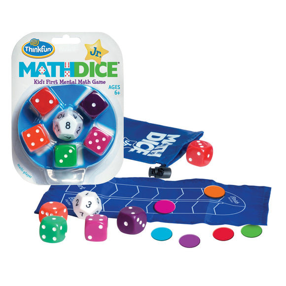 Math Dice Jr. Thinkfun Educational Games and Puzzles- BibiBuzz
