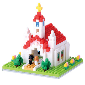 Nanoblocks Church 440pc Nanoblock Construction- BibiBuzz