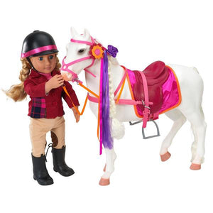 Horse Camarillo Hairplay White 20 Inch Our Generation Doll Accessories- BibiBuzz