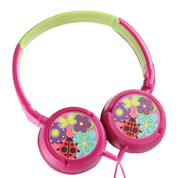 Rocka Kiddies headphone - Girls Miss Lovebug Rocka Accessories- BibiBuzz