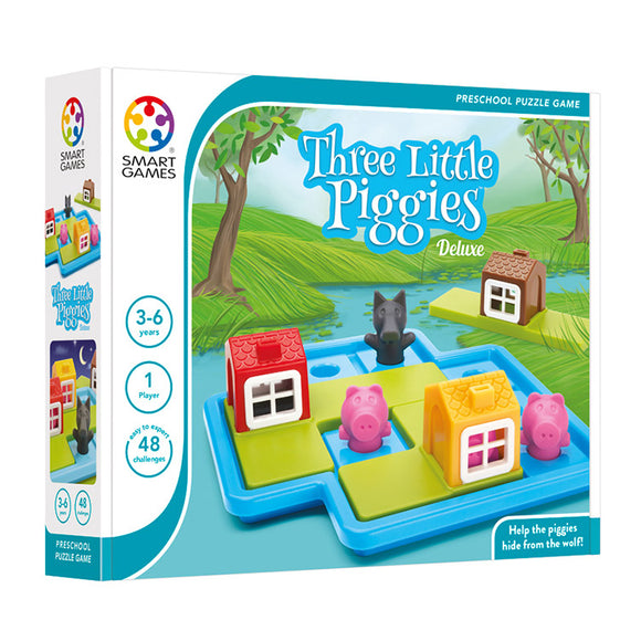 Smart Games - Three Little Piggies Smart Games Educational Games and Puzzles- BibiBuzz