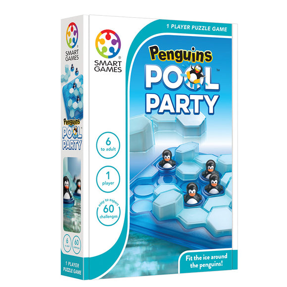 Smart Games - Penguins Pool Party Smart Games Educational Games and Puzzles- BibiBuzz