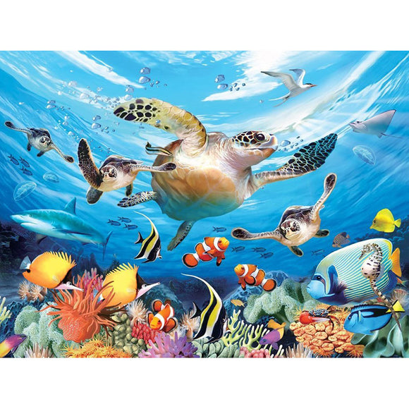 Super 3D Puzzle Journey of the Sea Turtle 63pc RGS Smartplay Puzzles- BibiBuzz