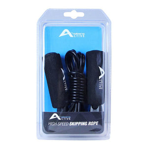Volkano Active Swish Series Skipping Rope (Black) Volkano Fitness- BibiBuzz