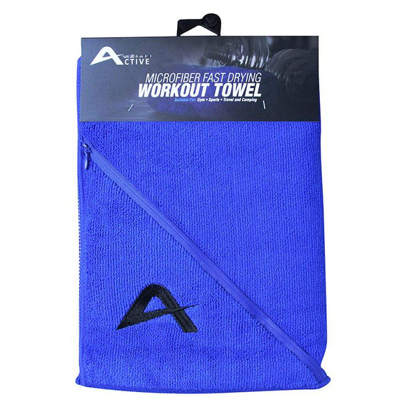 Volkano Active Fresh Series Zip Towel Volkano Fitness- BibiBuzz