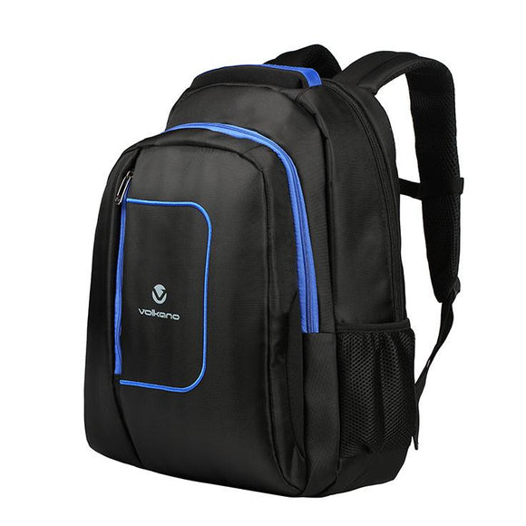 Volkano Bolt series backpack Black and Blue Volkano Bag- BibiBuzz