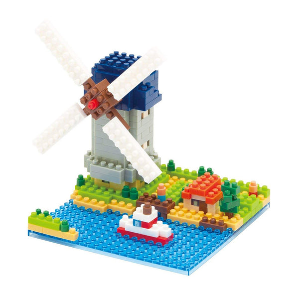 Nanoblocks Windmill 360pc Nanoblock Construction- BibiBuzz