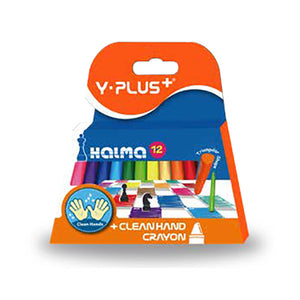 Y-Plus Halma Crayons (12) Y-Plus Stationery- BibiBuzz