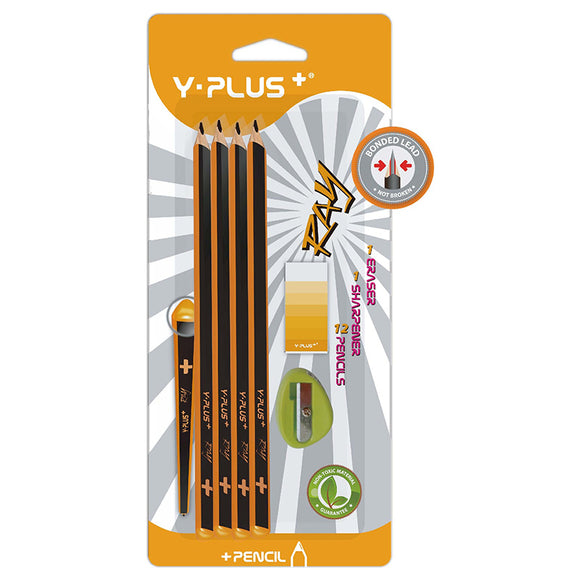 Y-Plus Ray Pencil Combo 14pc Y-Plus Stationery- BibiBuzz