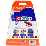 Y-Plus Peanut Crayons (12) Y-Plus Stationery- BibiBuzz