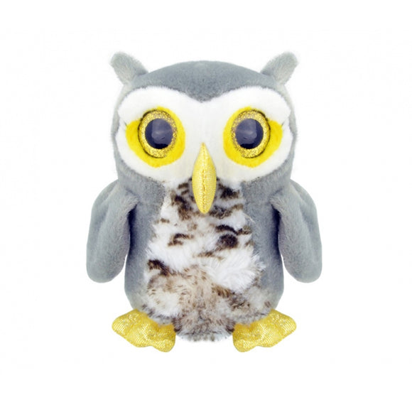 Orbys Plush Grey Owl 18cm Wild Planet Soft Toys- BibiBuzz