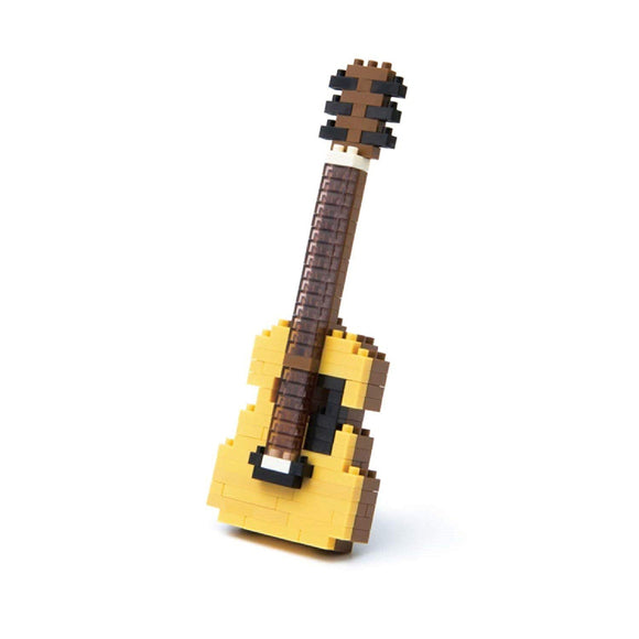 Nanoblocks Acoustic Guitar 150pc Nanoblock Construction- BibiBuzz